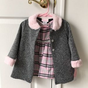 12 month baby girl dress and jacket set